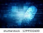 fingerprint scanning technology ... | Shutterstock . vector #1299532600