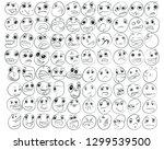 cartoon of various face... | Shutterstock .eps vector #1299539500