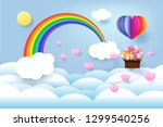 colorful air balloon  rainbow... | Shutterstock .eps vector #1299540256