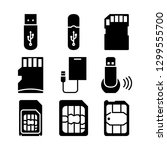 flash drive and smartphone cards   Shutterstock .eps vector #1299555700