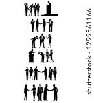 vector illustration of six... | Shutterstock .eps vector #1299561166