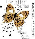 love letter for you butterfly...   Shutterstock .eps vector #1299563860