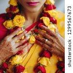 close up of hindu bride's hands ... | Shutterstock . vector #1299567673