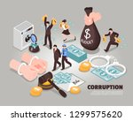 corruption isometric vector... | Shutterstock .eps vector #1299575620