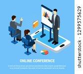 business people isometric... | Shutterstock .eps vector #1299575629
