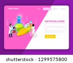 artificial food with synthetic... | Shutterstock .eps vector #1299575800