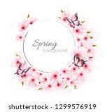 spring nature background with... | Shutterstock .eps vector #1299576919