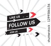 follow us background  vector.... | Shutterstock .eps vector #1299586156