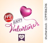 happy valentines day. greeting...   Shutterstock .eps vector #1299586246