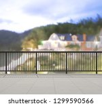 balcony and terrace of the blur ... | Shutterstock . vector #1299590566