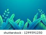 paper spring leaves vector... | Shutterstock .eps vector #1299591250