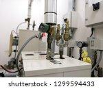 closeup image of steam... | Shutterstock . vector #1299594433