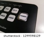 power button  keypad on digital ... | Shutterstock . vector #1299598129