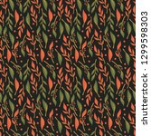 seamless pattern design with... | Shutterstock .eps vector #1299598303