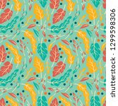seamless pattern design with... | Shutterstock .eps vector #1299598306