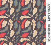 seamless pattern design with... | Shutterstock .eps vector #1299598309