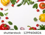 flat lay with organic... | Shutterstock . vector #1299606826