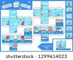 kids paper craft. 3d cubes... | Shutterstock .eps vector #1299614023