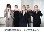 diverse group of business... | Shutterstock . vector #129961673