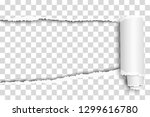 oblong snatched hole in... | Shutterstock .eps vector #1299616780