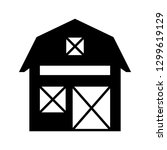 barn glyph black icon | Shutterstock .eps vector #1299619129