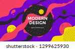 abstract retro art background... | Shutterstock .eps vector #1299625930