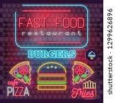 modern urban design of neon... | Shutterstock .eps vector #1299626896