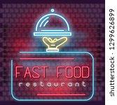 modern urban design of neon... | Shutterstock .eps vector #1299626899