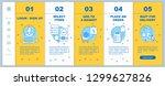 online shopping onboarding... | Shutterstock .eps vector #1299627826