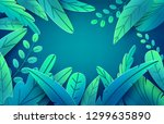 paper spring leaves vector... | Shutterstock .eps vector #1299635890