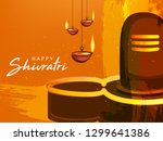 happy maha shivratri  vector... | Shutterstock .eps vector #1299641386