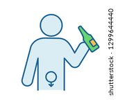 alcohol abuse color icon.... | Shutterstock .eps vector #1299644440