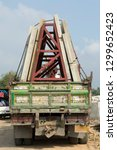 precast concrete slabs on truck | Shutterstock . vector #1299652423