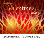 valentine's day greeting card   Shutterstock .eps vector #1299654769