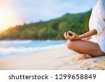 closeup of woman's practicing... | Shutterstock . vector #1299658849