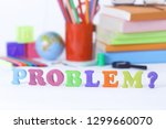 word problem on blurred... | Shutterstock . vector #1299660070