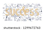 the concept of success. various ... | Shutterstock .eps vector #1299672763