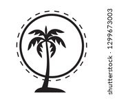 palm tree icon vector silhouette | Shutterstock .eps vector #1299673003