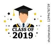 student degrees faceless... | Shutterstock .eps vector #1299678739