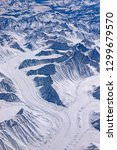 aerial view of glacier... | Shutterstock . vector #1299679570