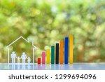 household living cost   family...   Shutterstock . vector #1299694096