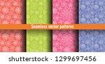 floral seamless pattern set....   Shutterstock .eps vector #1299697456