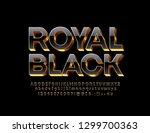 vector royal black font.... | Shutterstock .eps vector #1299700363
