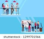 celebration of company's... | Shutterstock . vector #1299701566