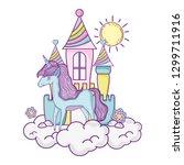 beautiful little unicorn with...   Shutterstock .eps vector #1299711916