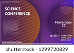 science conference invitation... | Shutterstock .eps vector #1299720829