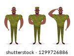 cartoon character   army soldier | Shutterstock . vector #1299726886
