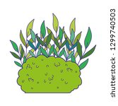 cute garden bush icon | Shutterstock .eps vector #1299740503