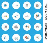 airport icons colored line set... | Shutterstock .eps vector #1299751453