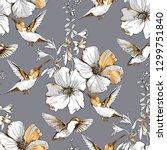 seamless pattern. exotic...   Shutterstock .eps vector #1299751840